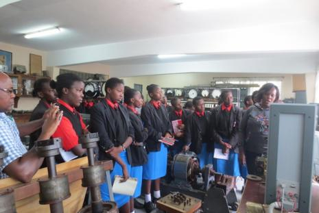 Starehe girls students in Electrical Machines lab