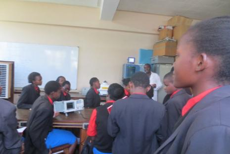 Starehe girls students in Telecommunication lab.